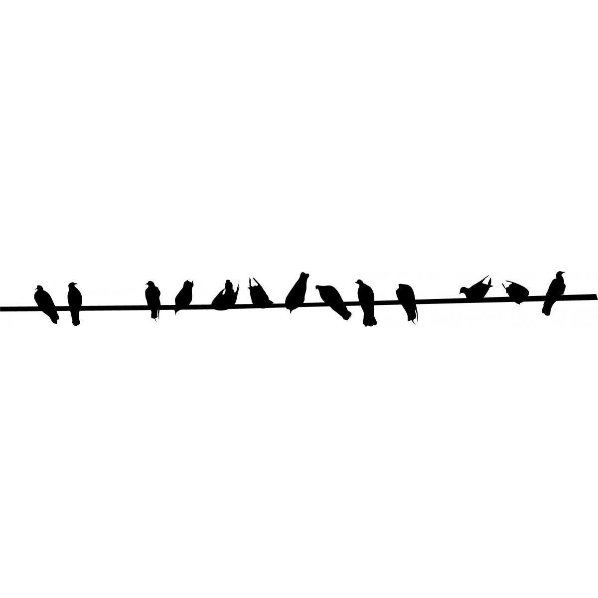 1200x1200 Bird Silhouette On Wire