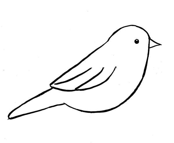 Bird Silhouette Outline at GetDrawings | Free download
