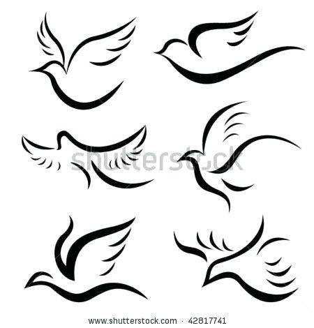 450x470 Collection Of Bird Outline Tattoo Back Best Skin Images