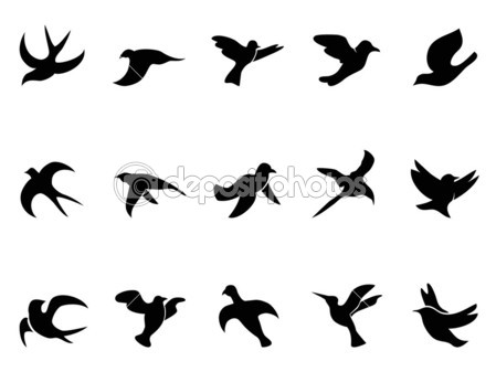 449x337 Flying Bird Silhouette Images. { Birdie Baby Shower