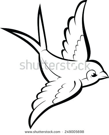 379x470 Free Bird Outline Clip Art Black Silhouette Outline Flying Swallow