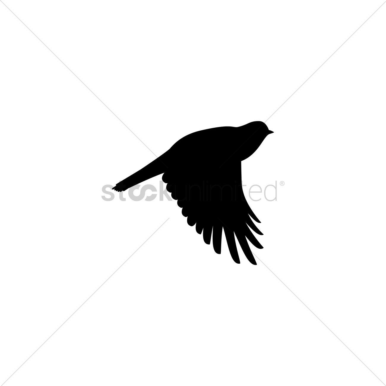 1300x1300 Bird Silhouette Vector Image