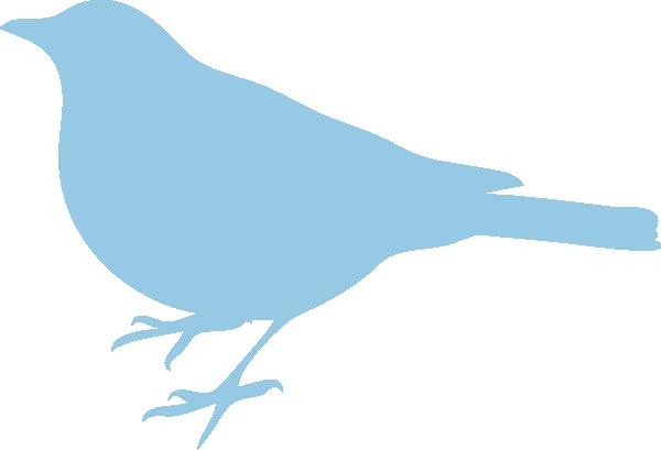 600x409 Soft Blue Bird Silhouette Clip Art
