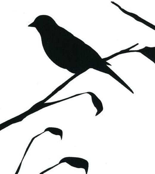 520x583 Blackbird Wallpaper, Designer Wallpaper And Silhouettes