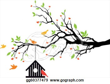 350x268 Illustration Clipart Tree Bird Silhouette Pencil And In Color