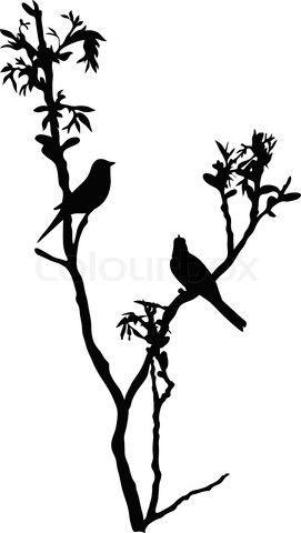 271x480 Japanese Birds On Tree Silhouette Art Tree