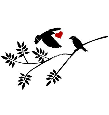 380x400 Tree Silhouette With Bird Flying Vector Laser And Print