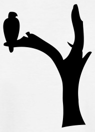 190x263 Eagle Bird Tree Silhouette By Bespoketech Spreadshirt