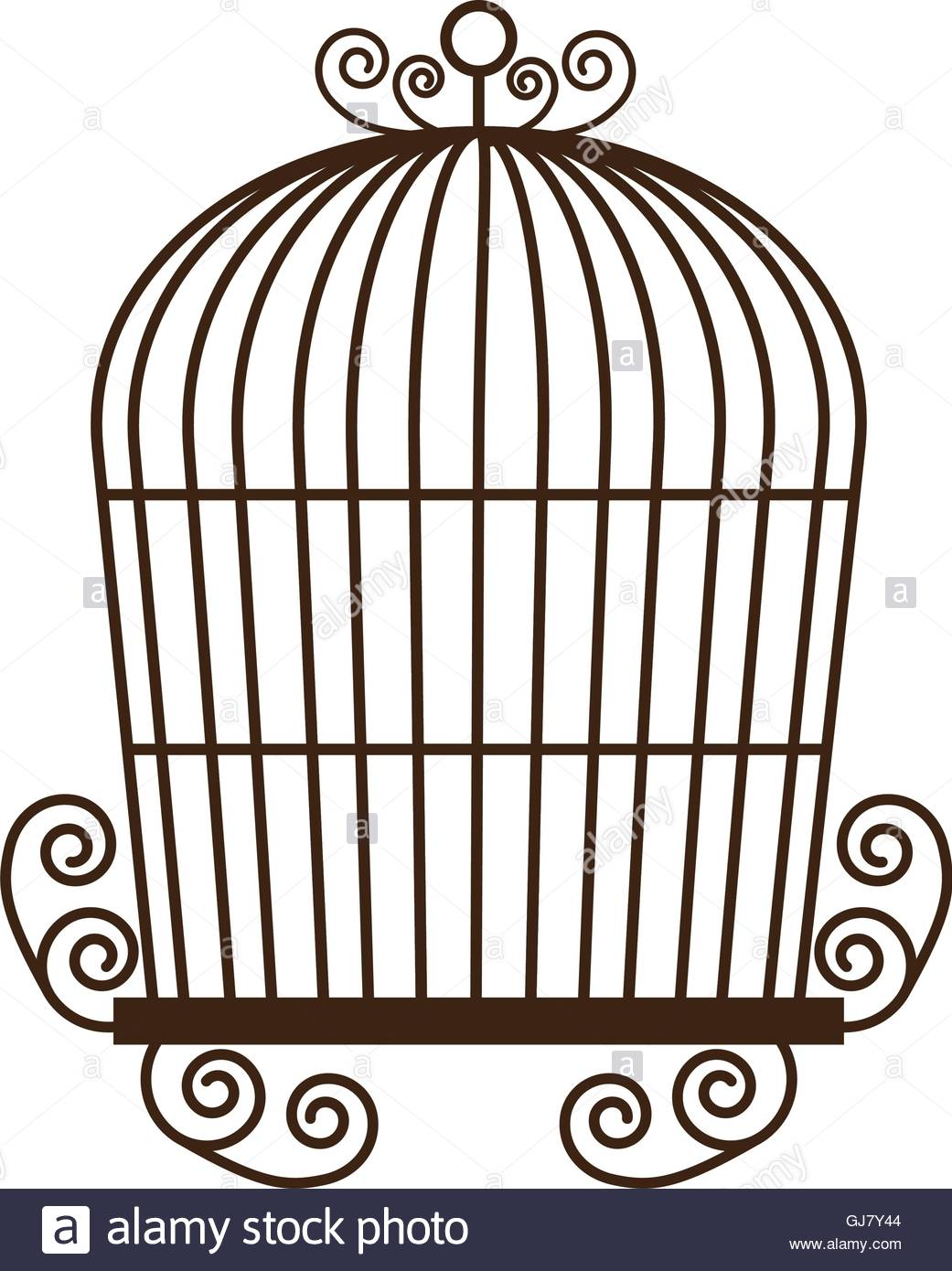 1041x1390 Birdcage Silhouette Vintage Icon Vector Stock Photos Amp Birdcage