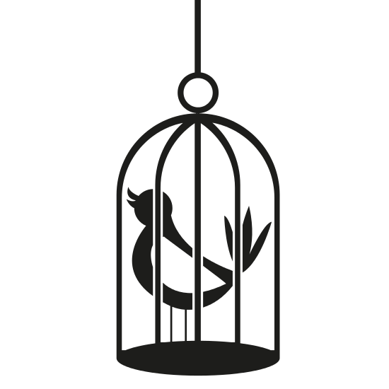 550x550 Cartoon Bird On Birdcage