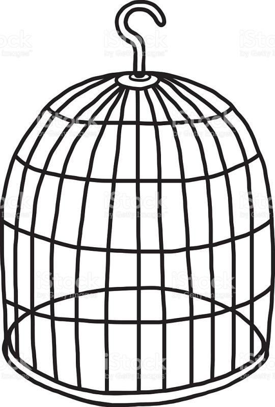 540x800 Bird Cage Clipart Black And White
