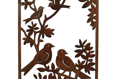 488x329 Metal Bird Wall Art
