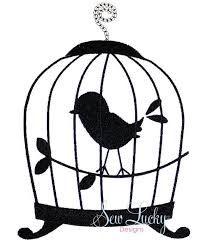 201x251 Vintage Birdcage Silhouette