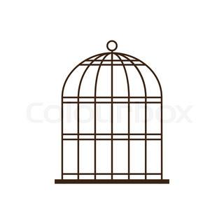 320x320 Bird Cage Stock Vector Colourbox