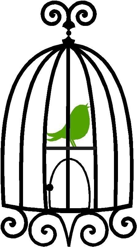 446x802 Bird In Cage Silhouette Clipart