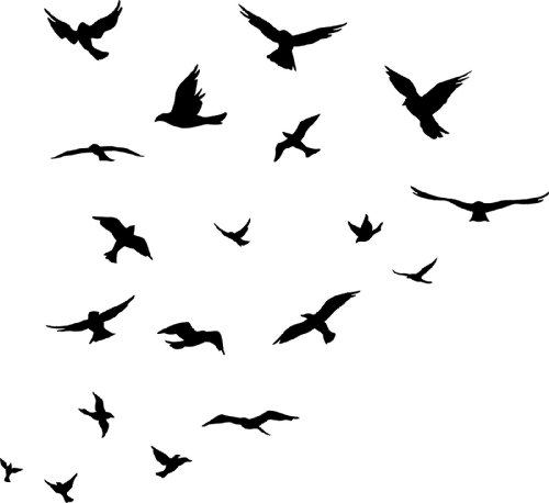 500x458 Flock Of Birds Clipart Bird Fly Many Interesting Cliparts