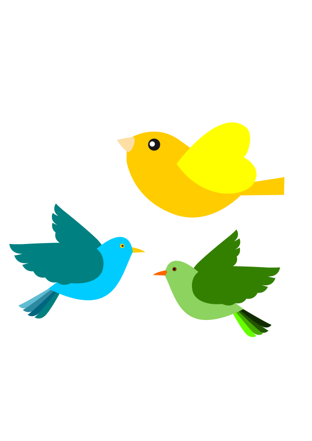 637x900 Birds In Flight Clipart Flying Silhouette Clip Art Free Images