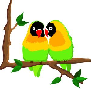 300x292 Birds On A Tree Clipart