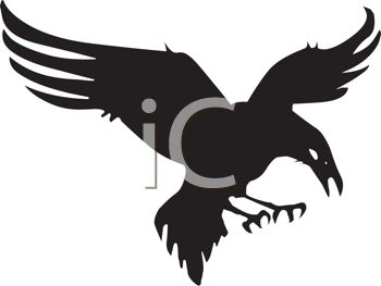 350x263 Picture Of A Silhouette Of An Eagle Preparing To Attack It's Prey