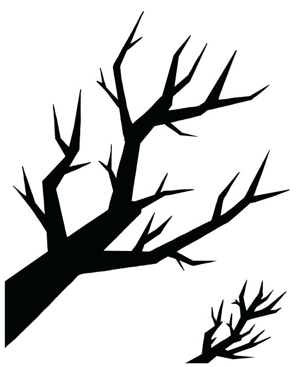 600x715 Branch Silhouette Tree Branch Silhouette Png