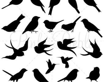 340x270 Cute Bird Silhouettes Clipart Cliprt Vectors, Flyingnd On