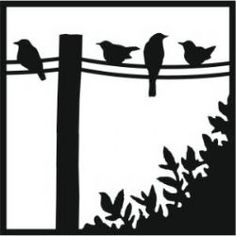 236x236 Clipart Birds On A Wire