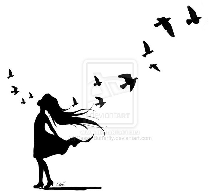 736x654 88 Best Women With Birds Images On Silhouettes