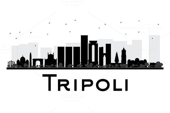 580x386 Tripoli City Skyline Silhouette Skyline Silhouette And City Skylines