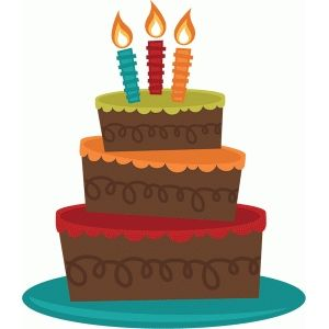 Birthday Cake Silhouette Clip Art