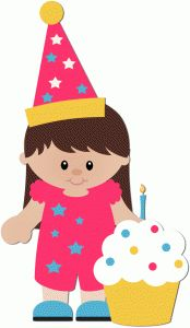 174x300 Birthday Girl With Balloons Tshirt Decals