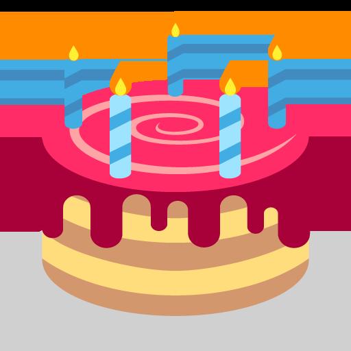 512x512 Birthday Cake Emoji Vector Icon Free Download Vector Logos Art