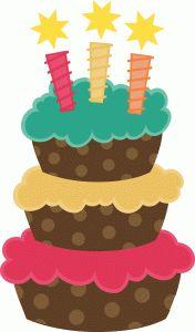 176x300 Birthday Cake SVG scrapbook cut file cute clipart files for