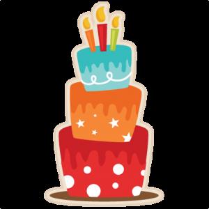 300x300 Birthday Cake SVG scrapbook cut file cute clipart files for