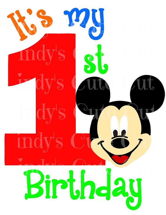 570x738 It's My First Birthday Mr. Mouse 1st 1 One Girl Cuttable, Dxf, Eps