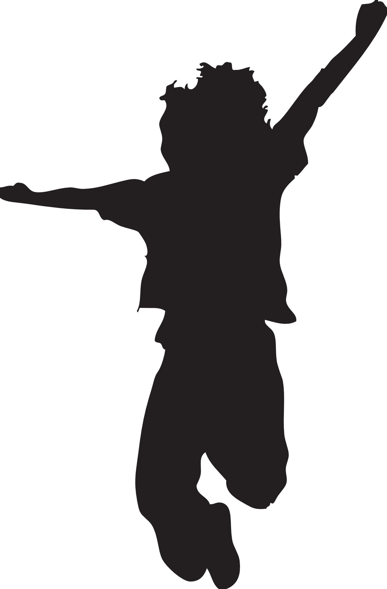 1261x1920 Jumping Silhouette Clipart