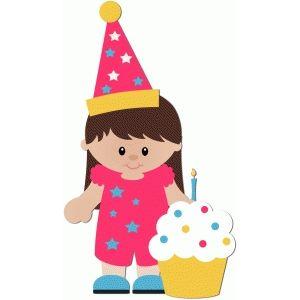 300x300 Silhouette Design Store Birthday Girl With Cupcake Birthday