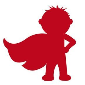 290x290 Superhero Silhouette Of Little Boy With Cape. Links To Knox'S