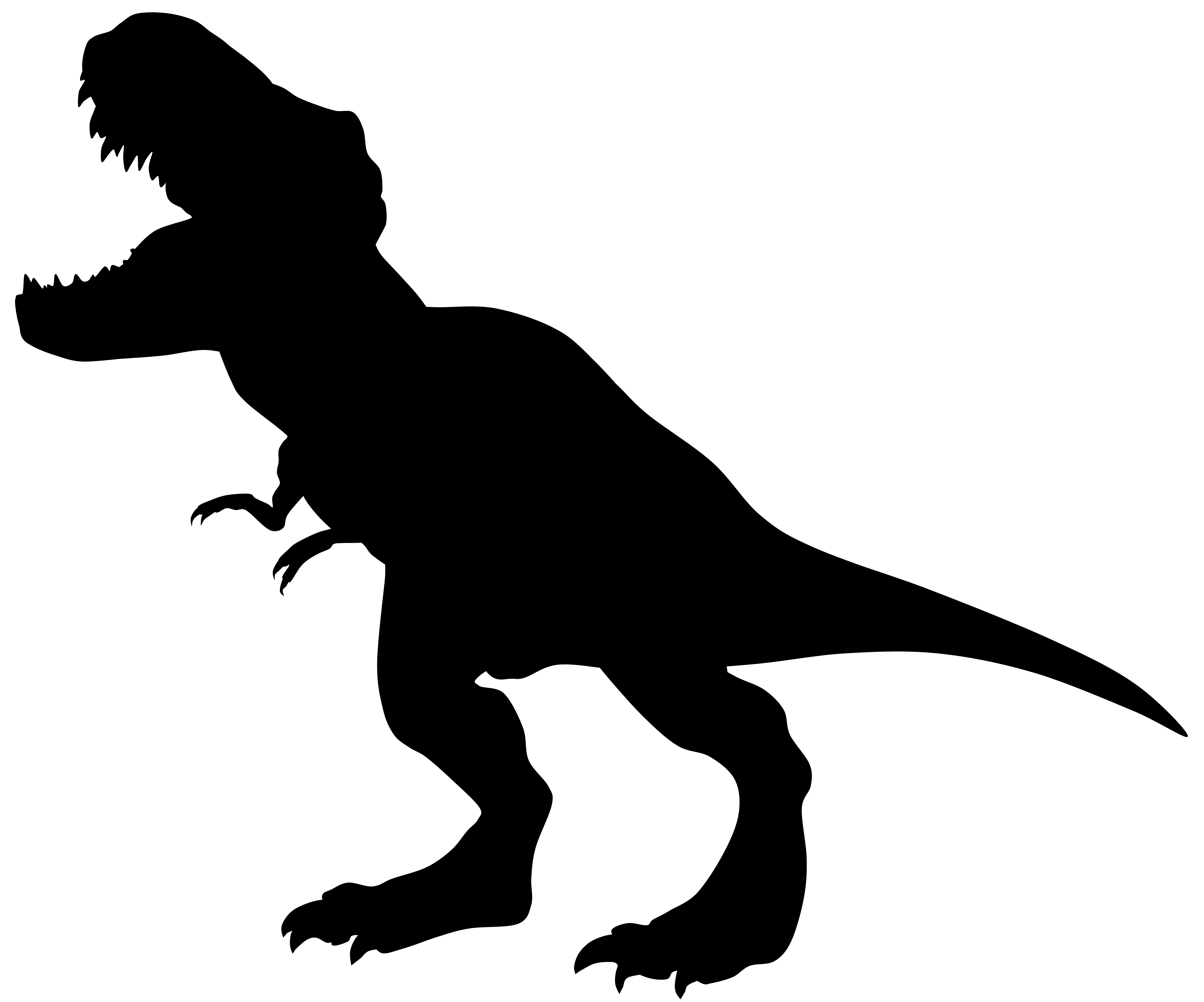 8000x6660 Dinosaur Silhouette Clipart Clipart Download Vinyl