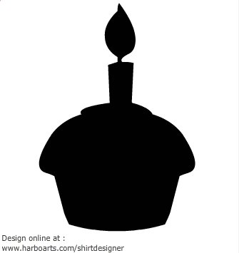 335x355 Beautiful Cake Silhouette Clip Art Birthday Silhouette Clipart