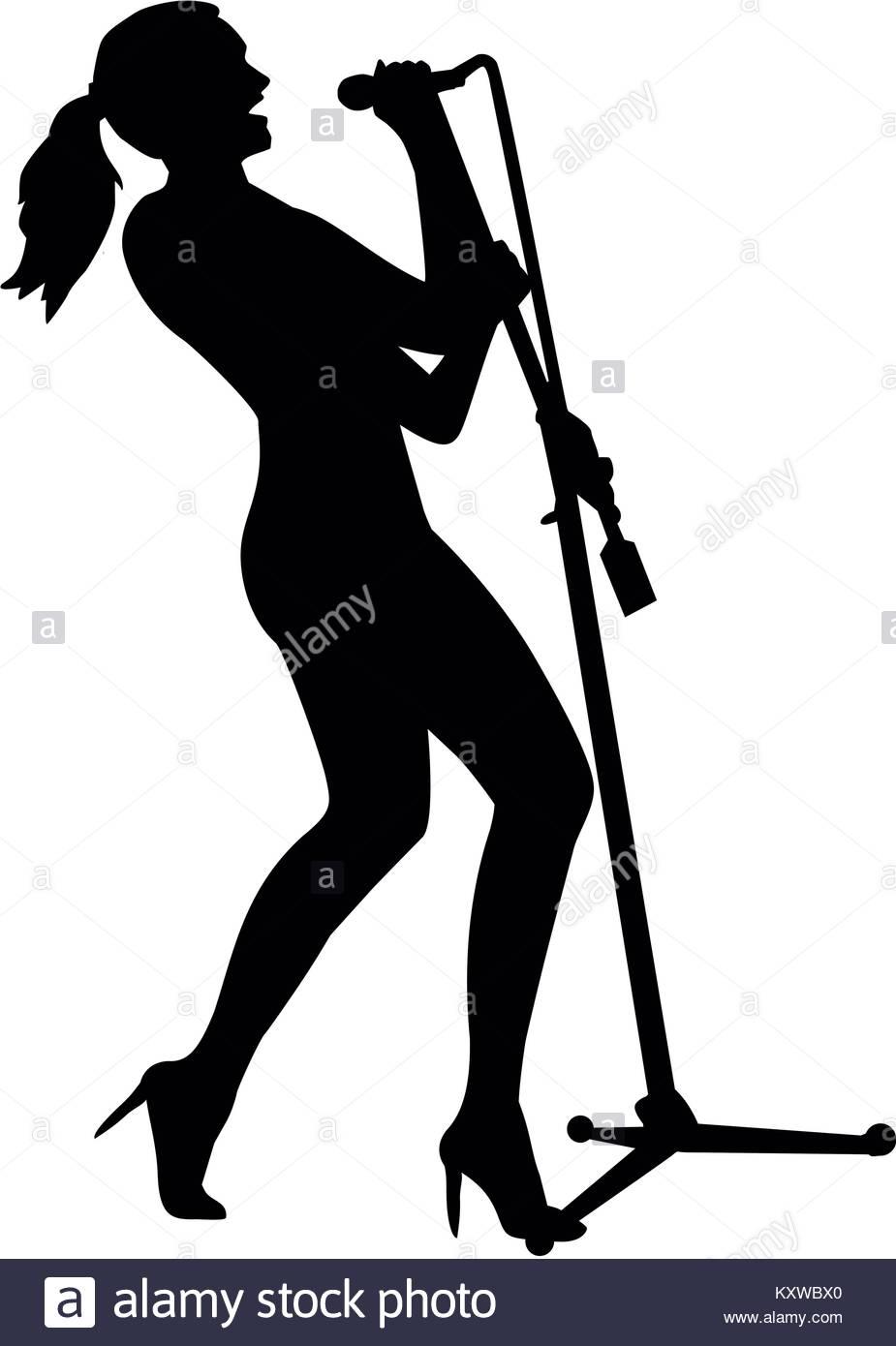 925x1390 Woman Singer Silhouette Stock Photos Amp Woman Singer Silhouette