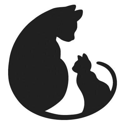 400x400 48 Best Cat Silhouettes Images On Black Cats, Black