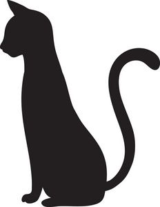 232x300 Cat Outline Clipart