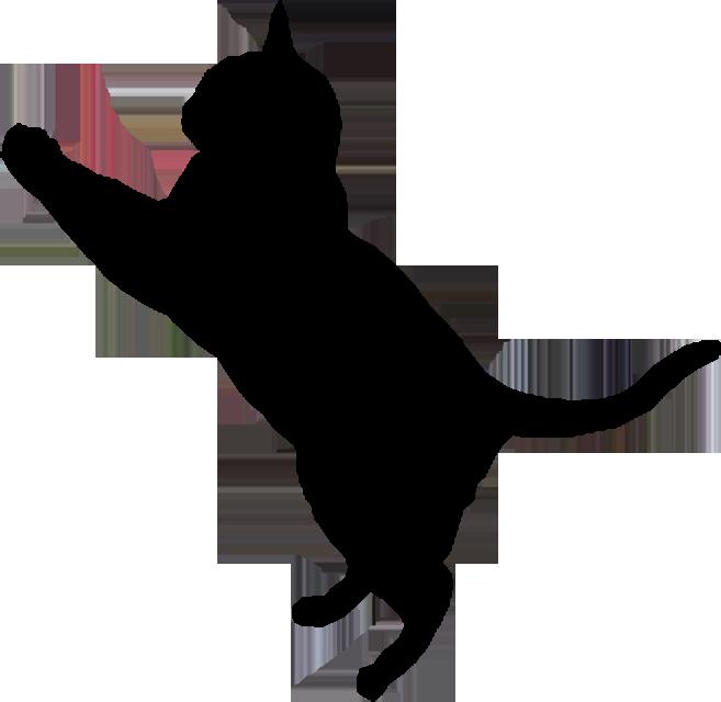 657x640 Black Cat Clipart Shadow
