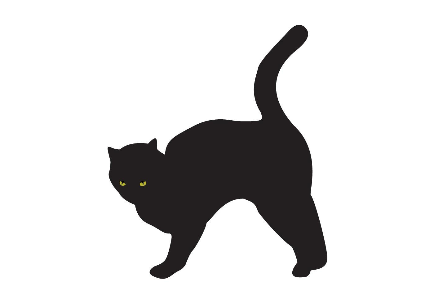 1400x980 Black Cat Silhouette Free Vector Art