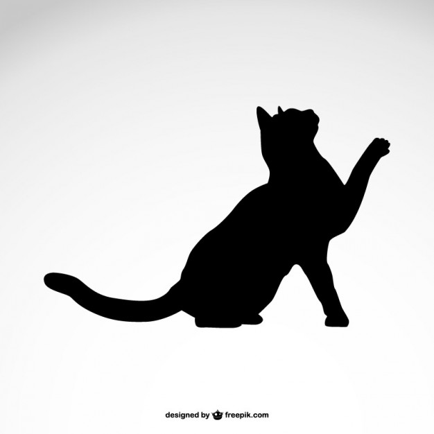 626x626 Black Cat Silhouette Vector Free Download