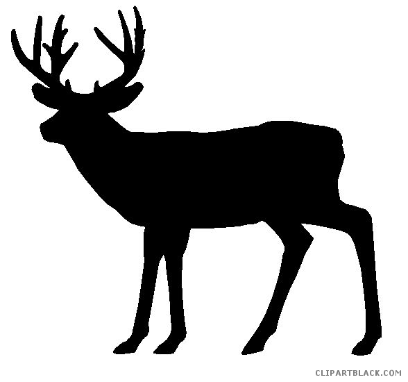 588x550 Deer Silhouette Clipart