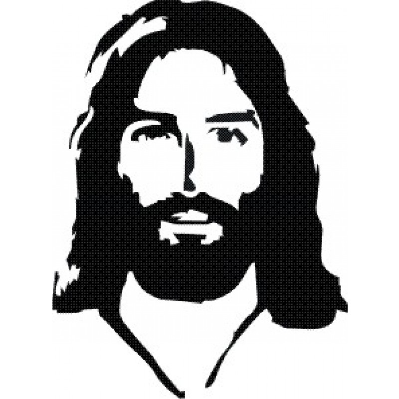 800x800 List Of Synonyms And Antonyms Of The Word Jesus Face Silhouette
