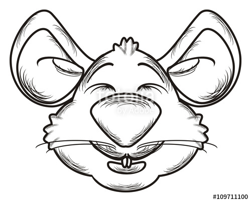 500x403 Muzzle, Line, Silhouette, Isolated, Head, Face, Animal, Mouse, Rat