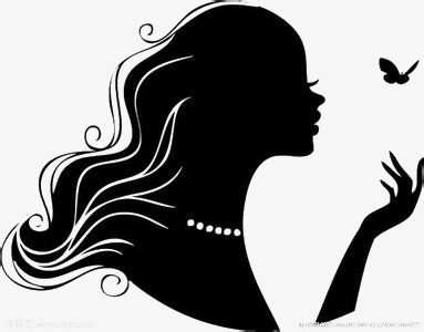 383x300 Black Girl Silhouette, Black, Girl, Sketch Png Image And Clipart