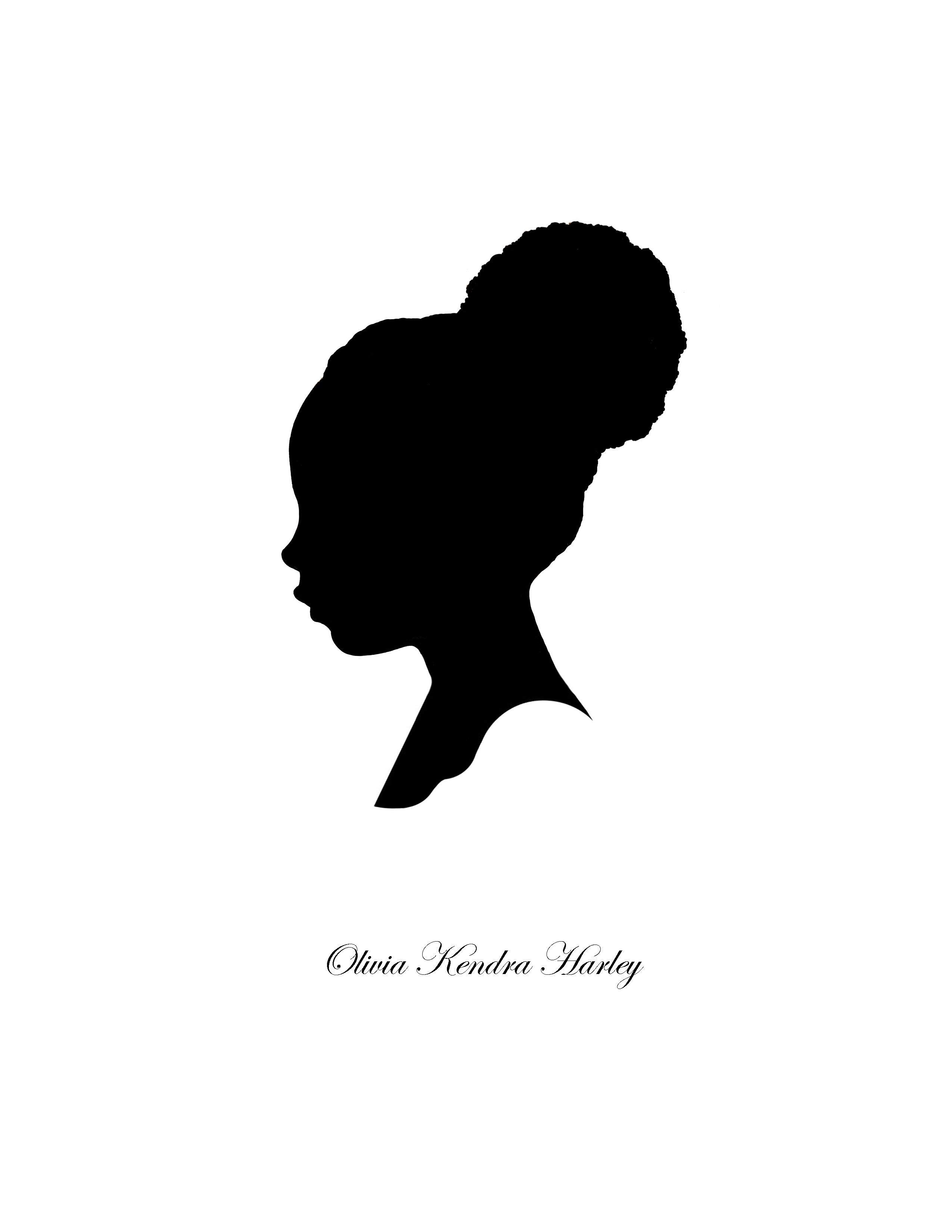 2550x3300 Black Woman Silhouette